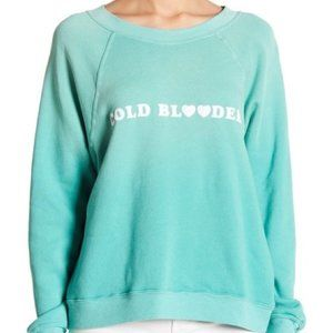 WILDFOX COLD BLOODED SWEATSHIRT IN TEAL NWT